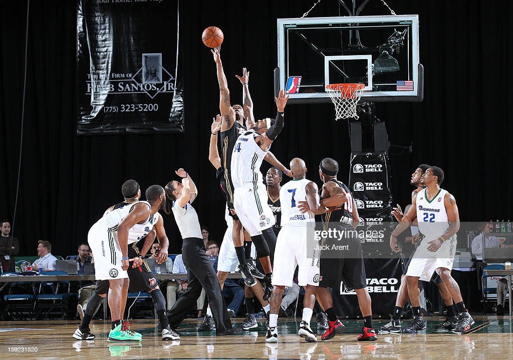 <a gi-track='captionPersonalityLinkClicked' href=/galleries/search?phrase=Antoine+Wright&family=editorial&specificpeople=633770 ng-click='$event.stopPropagation()'>Antoine Wright</a> #34 of the Reno Bighorns jumps for the ball against the Erie BayHawks during the 2013 NBA D-League Showcase on January 9, 2013 at the Reno Events Center in Reno, Nevada.