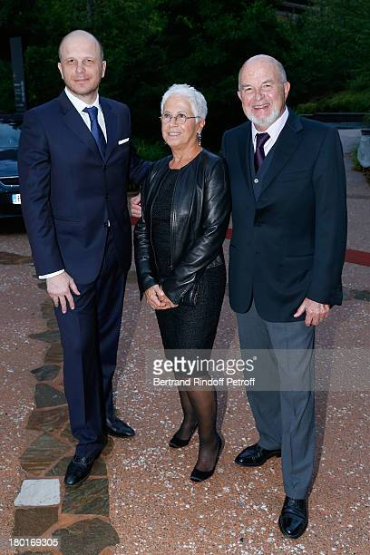 Antoine Zacharias with his wife Rose and their son attend 'Friends of Quai Branly Museum Society' dinner party at Musee du Quai Branly on September 9...