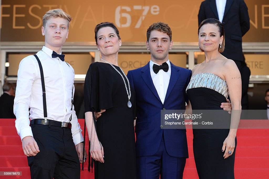 Antoine-Olivier Pilon, Anne Dorval, Xavier Dolan and Suzanne Clement at the Closing ceremony and 'A Fistful of Dollars' screening during 67th Cannes Film Festival