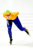 Antoinette de Jong of Netherlands competes in the 3000m Ladies race during the Essent ISU European Speed Skating Championships 2013 at Thialf Stadium...