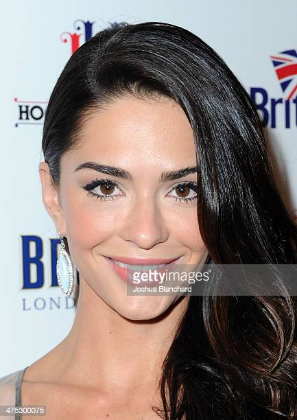 Antoinette Kalaj arrives at BritWeek Oscar Party Celebrating Past Present And Future Oscar Winners at Hooray Henry's on February 26 2014 in West...