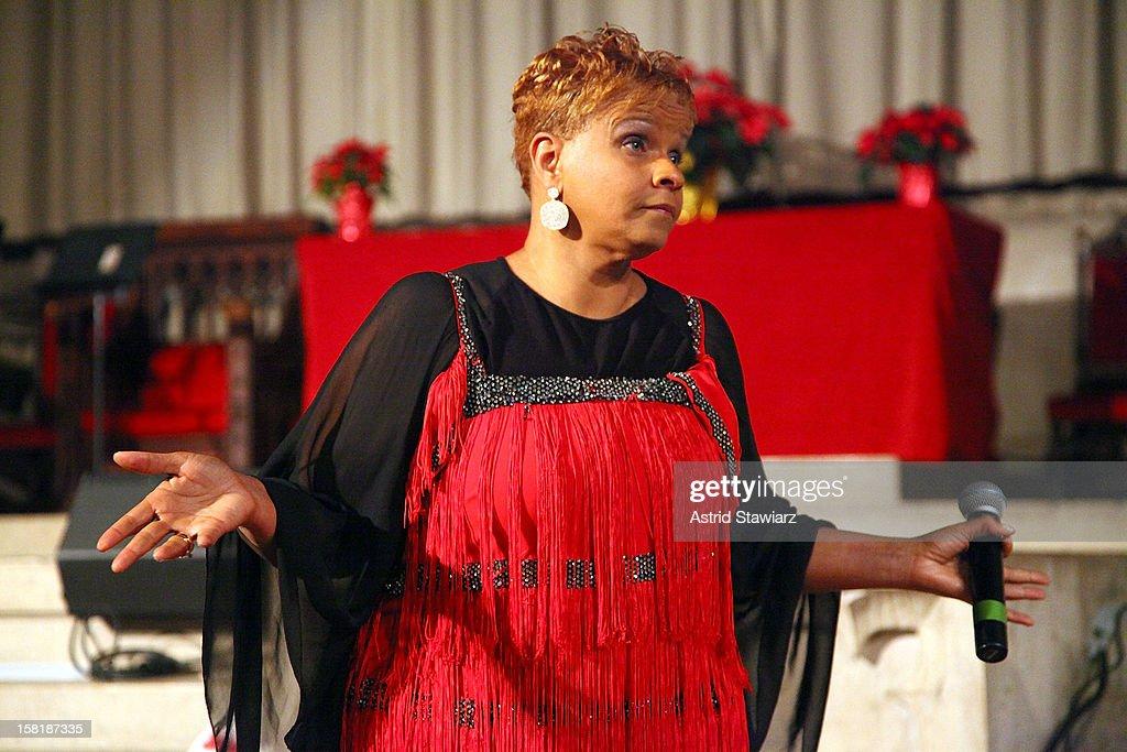 Antoinette Montague attends the Duke Ellington Center For The Arts 'Ring Dem Bells!' Holiday Party at Landmark on the Park on December 10, 2012 in New York City.