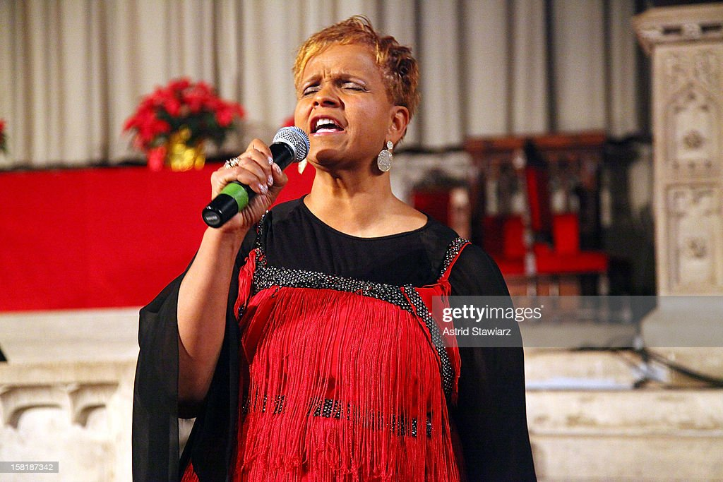 Antoinette Montague attends the Duke Ellington Center For The Arts 'Ring Dem Bells!' Holiday Party at Landmark on the Park on December 10, 2012 in New York City.