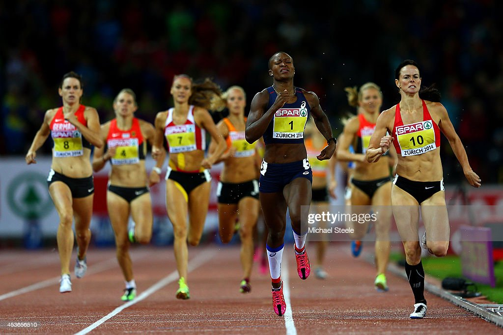 Antoinette Nana Djimou of France approaches the finish line as she competes in the Women's Heptathlon 800 metres during day four of the 22nd European Athletics Championships at Stadium Letzigrund on August 15, 2014 in Zurich, Switzerland.