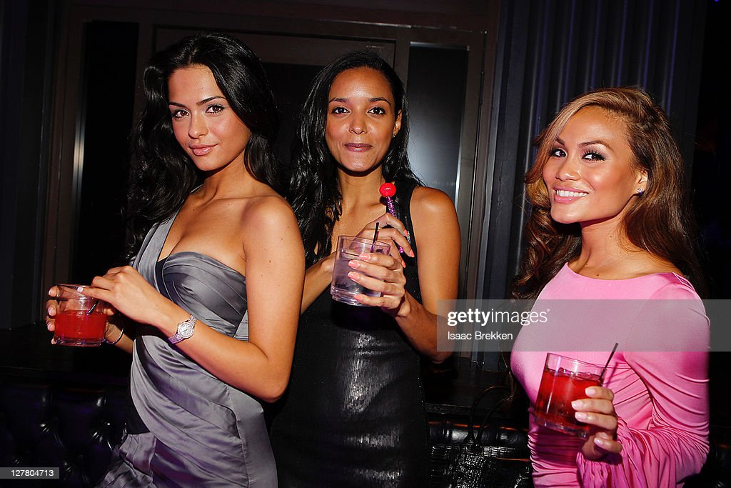 Antoinette Nikprelaj (L) Sanya Hughes and Daphne Joy, Mermaids of 'Pirates Of The Caribbean: On Stranger Tides' host at Chateau Nightclub & Gardens on June 3, 2011 in Las Vegas, Nevada.