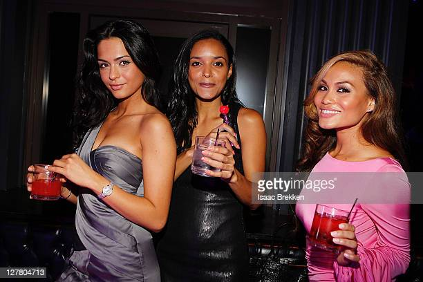 Antoinette Nikprelaj Sanya Hughes and Daphne Joy Mermaids of 'Pirates Of The Caribbean On Stranger Tides' host at Chateau Nightclub Gardens on June 3...