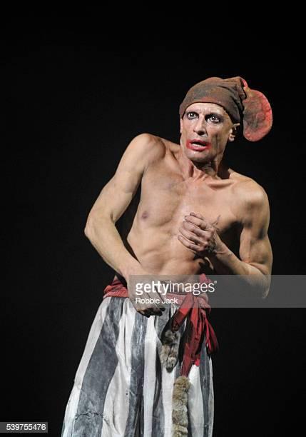 Anton Adasinsky as Harlekin in Derevo's production 'Harlekin' at the Pleasance as part of the Edinburgh Festival Fringe