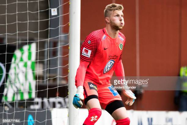 Anton Cajtoft of Jonkopings Sodra looks on during the Allsvenskan match between IF Elfsborg and Jonkopings Sodra IF at Boras Arena on May 22 2017 in...
