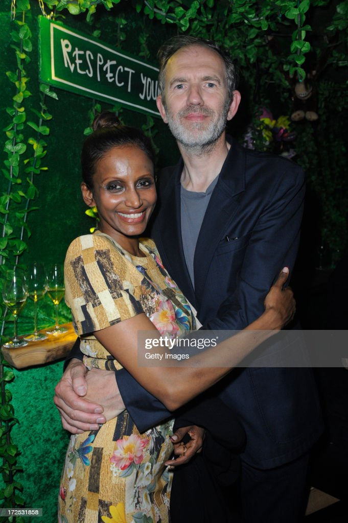<a gi-track='captionPersonalityLinkClicked' href=/galleries/search?phrase=Anton+Corbijn&family=editorial&specificpeople=2211821 ng-click='$event.stopPropagation()'>Anton Corbijn</a> and Nimi Ponnadurai attend G-Star presents Spring/Summer 2014 collection during Bread & Butter on July 02, 2013 in Berlin, Germany.