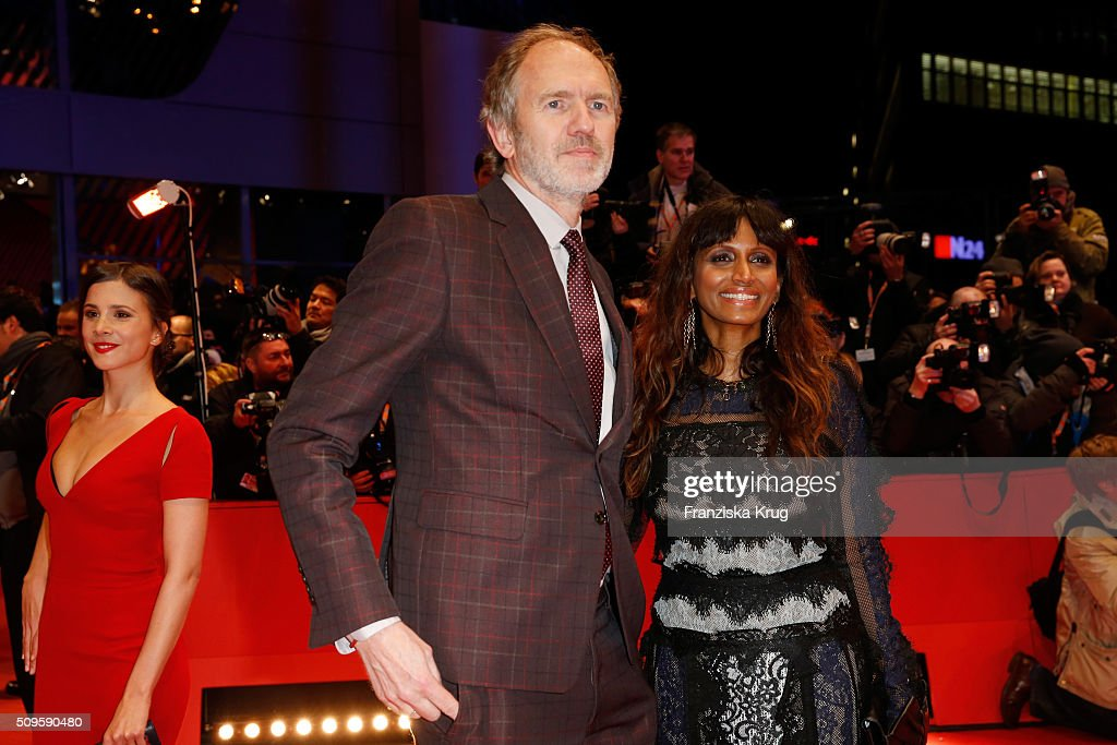 <a gi-track='captionPersonalityLinkClicked' href=/galleries/search?phrase=Anton+Corbijn&family=editorial&specificpeople=2211821 ng-click='$event.stopPropagation()'>Anton Corbijn</a> and Nimi Ponnadurai attend the 'Hail, Caesar!' premiere during the 66th Berlinale International Film Festival Berlin at Berlinale Palace on February 11, 2016 in Berlin, Germany.