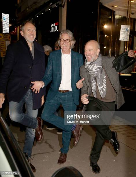 Anton Corbijn Paul Smith and Michael Stipe attend the launch of the Paul Smith x REM collection celebrating the 25th anniversary of REM's album...