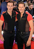 Anton du Beke and Brendan Cole attend the red carpet launch of 'Strictly Come Dancing 2015' at Elstree Studios on September 1 2015 in Borehamwood...