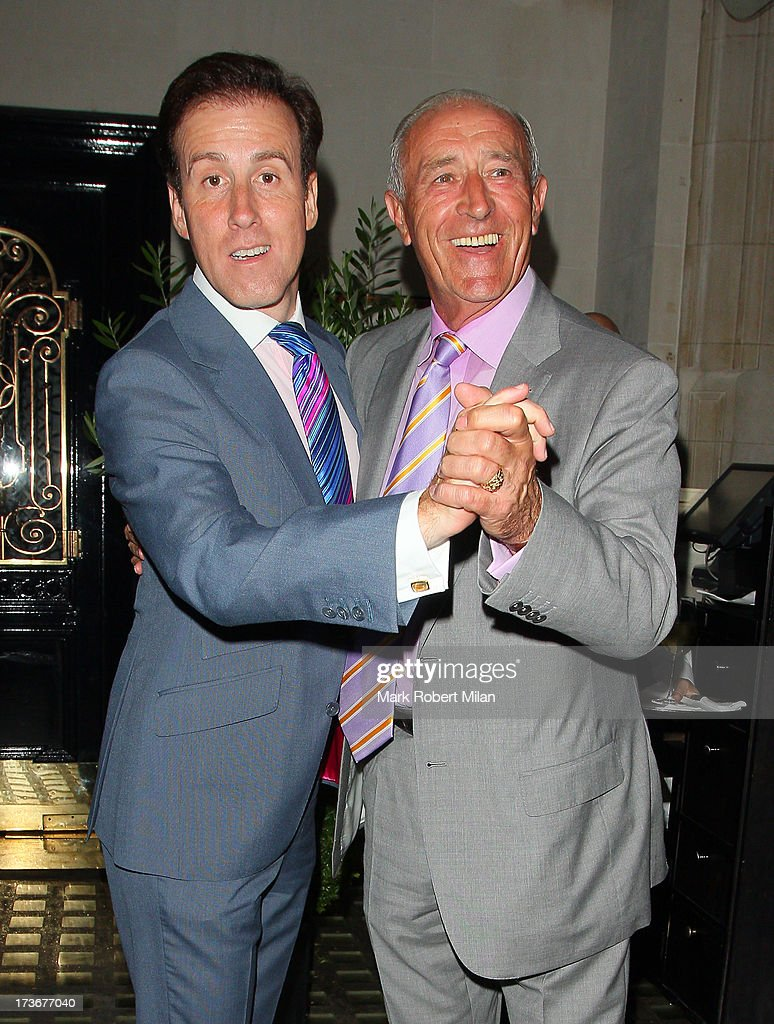 <a gi-track='captionPersonalityLinkClicked' href=/galleries/search?phrase=Anton+du+Beke&family=editorial&specificpeople=655494 ng-click='$event.stopPropagation()'>Anton du Beke</a> and <a gi-track='captionPersonalityLinkClicked' href=/galleries/search?phrase=Len+Goodman&family=editorial&specificpeople=742714 ng-click='$event.stopPropagation()'>Len Goodman</a> leave Scott's restaurant on July 16, 2013 in London, England.