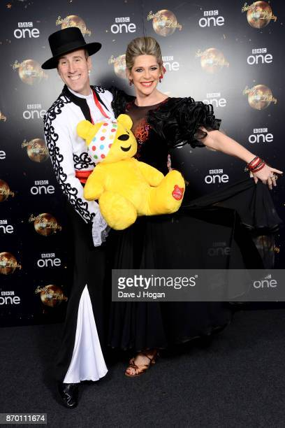 Anton Du Beke and Ruth Langsford attend the Strictly Come Dancing for BBC Children in Need photocall at Elstree Studios on November 4 2017 in...