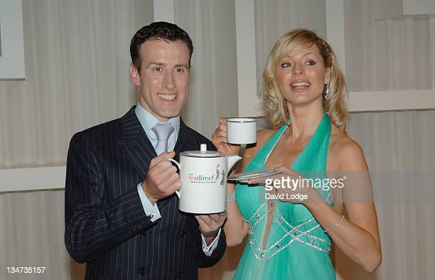 Anton Du Beke and Tess Daly during TeaDirect Decent Dance Photocall at Trafalgar Hotel in London Great Britain