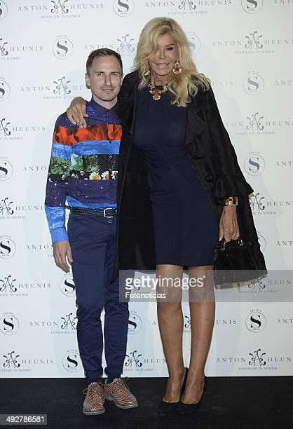 Anton Heunis and Bibiana Fernandez attend Anton Heunis Jewelry 10th anniversary at the Sala de Alhajas on May 21 2014 in Madrid Spain