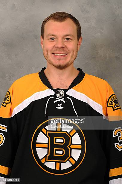 Anton Khudobin of the Boston Bruins poses for his official headshot for the 20162017 season on September 24 2016 in Watertown Massachusetts