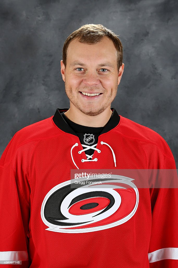 <a gi-track='captionPersonalityLinkClicked' href=/galleries/search?phrase=Anton+Khudobin&family=editorial&specificpeople=722106 ng-click='$event.stopPropagation()'>Anton Khudobin</a> #31 of the Carolina Hurricanes poses for his official headshot for the 2014-2015 season at Carolina Family Practice on September 18, 2014 in Raleigh, North Carolina.