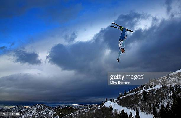 Anton Kushnir of Bulgaria competes during qualifying for the Mens Aerials at the FIS Freestyle Ski World Cup Aerial Competition at Deer Valley on...