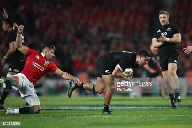 Anton Lienert Brown of the All Blacks during the Test match between the New Zealand All Blacks and the British Irish Lions at Eden Park on July 8...