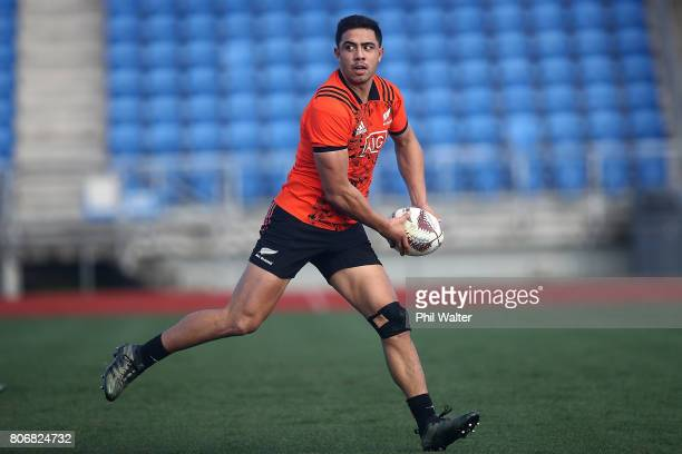 Anton LienertBrown of the All Blacks during a New Zealand All Blacks training session at Trusts Stadium on July 4 2017 in Auckland New Zealand