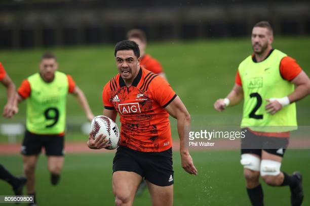 Anton LienertBrown of the All Blacks during a New Zealand All Blacks training session at Trusts Stadium on July 6 2017 in Auckland New Zealand