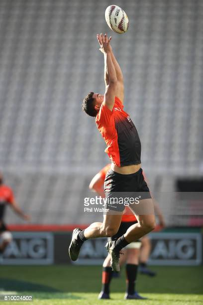 Anton LienertBrown of the All Blacks during the New Zealand All Blacks Captains Run at Eden Park on July 7 2017 in Auckland New Zealand