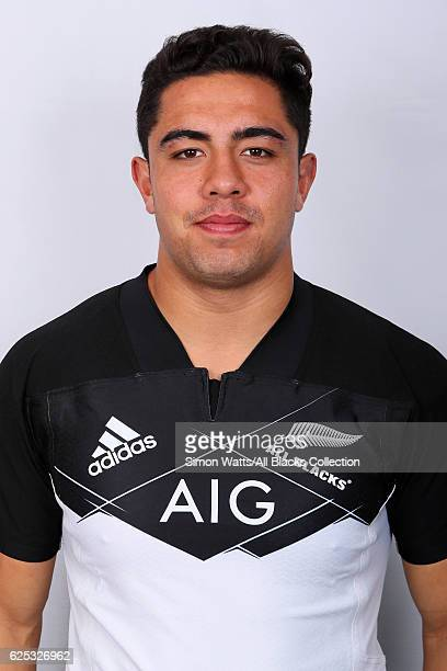 Anton LienertBrown poses during the All Blacks End of Year Tour 2016 Headshots Session at Auckland International Airport Novotel on October 28 2016...