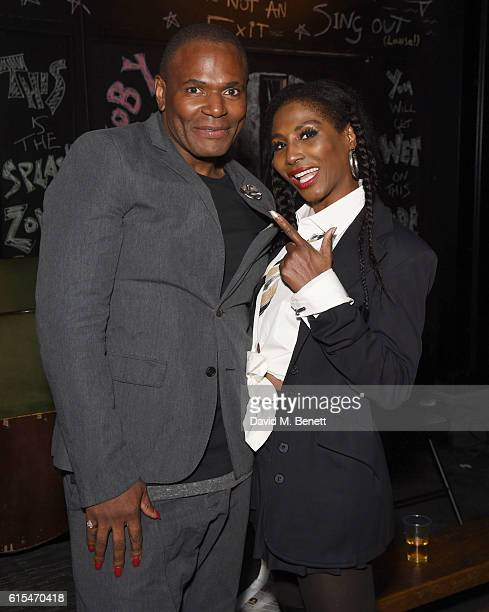 Anton Stephans and Sinitta attend the press night performance of 'Moby Dick The Musical' at The Union Theatre on October 18 2016 in London England