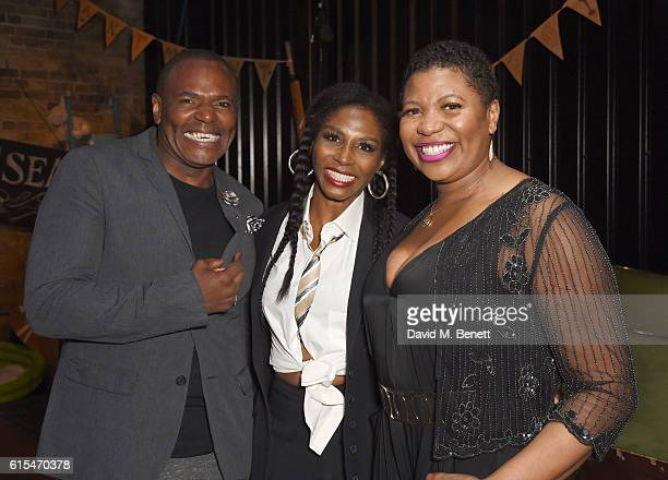 Anton Stephans Sinitta and Brenda Edwards attend the press night performance of 'Moby Dick The Musical' at The Union Theatre on October 18 2016 in...