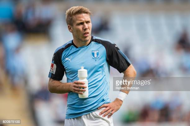 Anton Tinnerholm of Malmo FF ahead of the Allsvenskan match between Malmo FF and Jonkopings Sodra IF at Swedbank Stadion on July 22 2017 in Malmo...