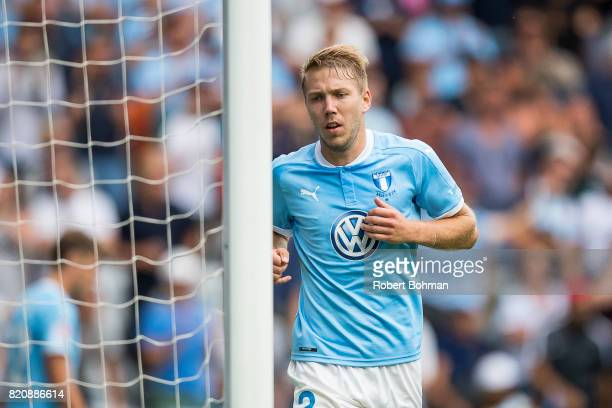 Anton Tinnerholm of Malmo FF during the Allsvenskan match between Malmo FF and Jonkopings Sodra IF at Swedbank Stadion on July 22 2017 in Malmo Sweden