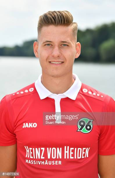 Anton Waldemar of Hannover 96 poses during the team presentation at on July 14 2017 in Hanover Germany