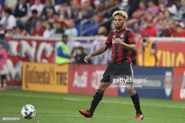 Anton Walkes of Atlanta United in action during the New York Red Bulls Vs Atlanta United FC MLS regular season match at Red Bull Arena Harrison New...