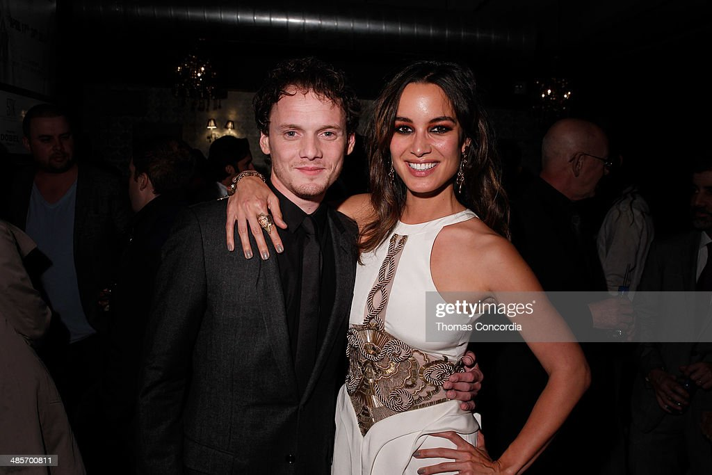 Anton Yelchin and Berenice Marlohe attend the '5 To 7' Cast Dinner At Supper Suite By STK Hosted With Fiji Water And Dobel Tequila on April 19 2014...