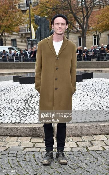Anton Yelchin arrives at the Miu Miu Fashion Show during the Paris Fashion Week S/S 2016 Day Nine on October 7 2015 in Paris France