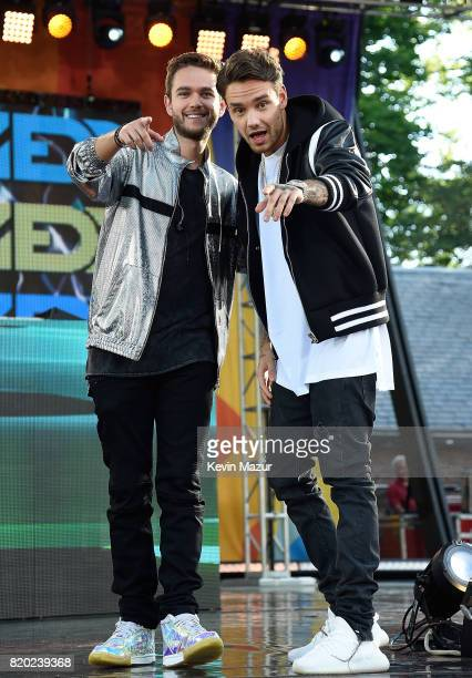 Anton Zaslavski 'Zedd' and Liam Payne perform on ABC's 'Good Morning America' at Rumsey Playfield on July 21 2017 in New York City