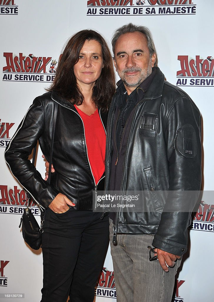 Antone Dulery (R) and Pascale Pouzadoux attend the 'Asterix & Obelix: Au Service De Sa Majeste' premiere at Le Grand Rex on September 30, 2012 in Paris, France.
