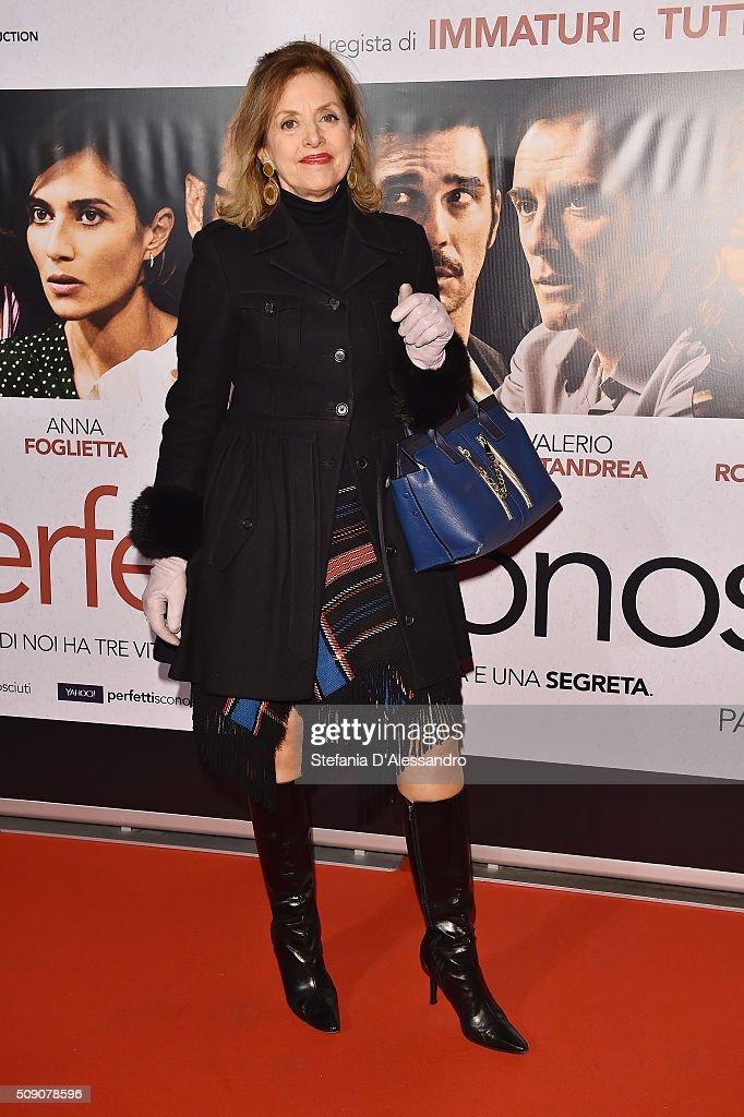 Antonella Boralevi attends 'Perfetti Sconosciuti' Premiere held at Odeon Cinema on February 8, 2016 in Milan, Italy.