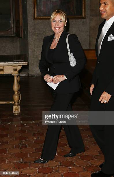 Antonella Clerici attends the 'Gout De France / Good France' Gala Dinner at the France's embassy Palazzo Farnese on March 19 2015 in Rome Italy