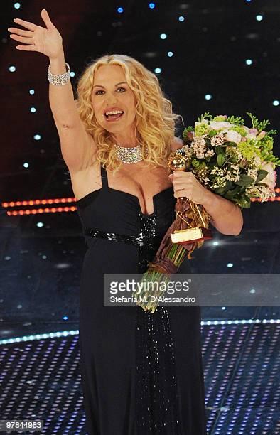 Antonella Clerici attends the 'Premio TV 2010' Ceremony Award held at Teatro Ariston on March 18 2010 in San Remo Italy