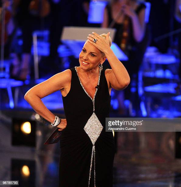 Antonella Clerici attends ''Ti lascio Una Canzone'' at the Auditorium of Naples on May 1 2010 in Naples Italy