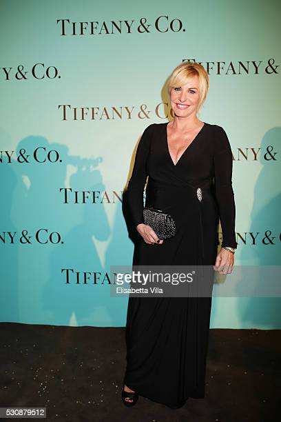 Antonella Clerici attends Tiffany Co celebration of the opening of its new store in Rome at at Villa Aurelia on May 11 2016 in Rome Italy