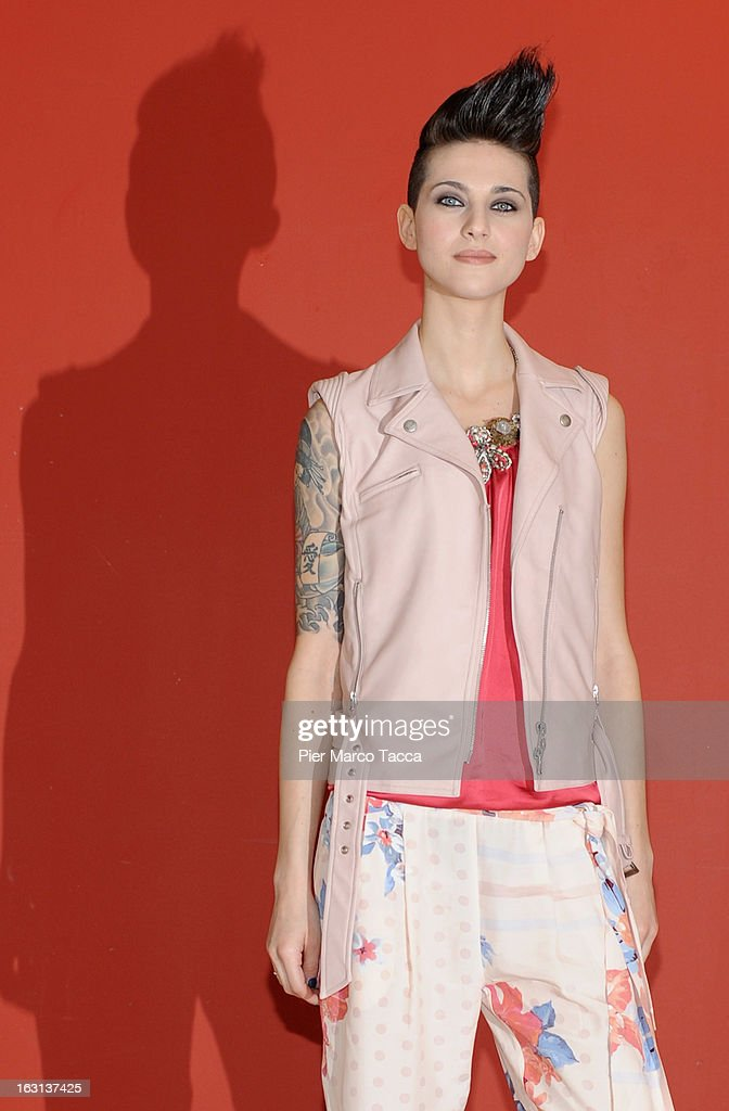 Antonella Lo Coco attends a 'Ci vuole un gran fisico' photocall on March 5, 2013 in Milan, Italy.