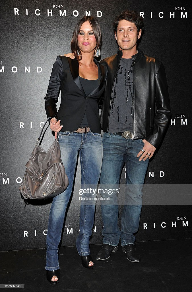 Antonella Mosetti and Aldo Montano attend the John Richmond Fashion Show as part of Milan Fashion Week Womenswear Autumn/Winter 2011 on February 23, 2011 in Milan, Italy.