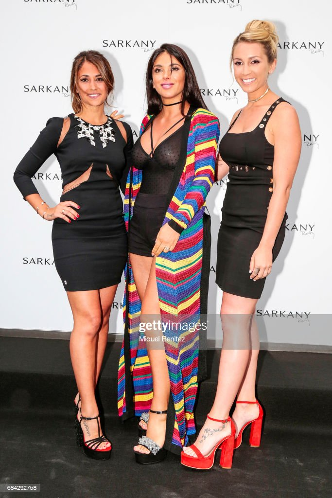 Antonella Roccuzzo And Sofia Balbi Attend Sarkany Boutique Opening in Barcelona