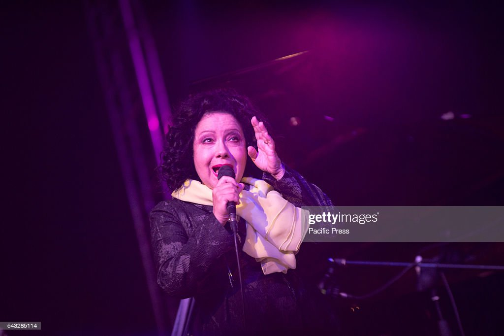 MONGOLFIERA, MOLFETTA, BARI, ITALY, ITALY - : Antonella Ruggiero Italian successful singer in concert to the Molfetta Gran Shopping Mongolfiera Music Festival in Italy.