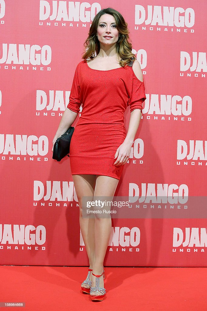 Antonella Salvucci attends the 'Django Unchained' premiere at Cinema Adriano on January 4, 2013 in Rome, Italy.