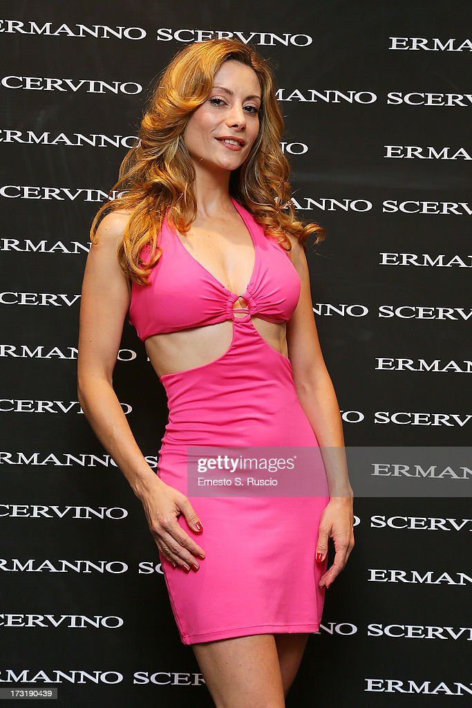 Antonella Salvucci attends the Ermanno Scervino Store Opening as a part of AltaRoma AltaModa on July 9, 2013 in Rome, Italy.