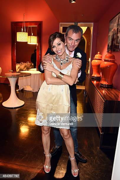 Antonello Sarno and Chantal Sciuto attend Tiziana Rocca Birthday Party during the 71st Venice Film Festival at Centurion Palace Hotel on August 30...